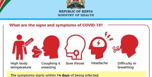Record low of 22 new virus cases in Kenya over 24 hours