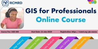 Online Course on GIS for Professionals starts on July 21, 2020